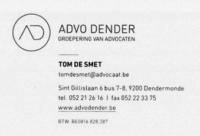 Advodender Tom De Smet