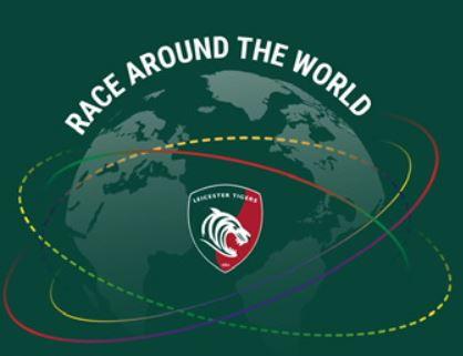 Race around the world met Leicester Tigers en DRC